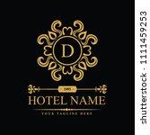 luxury logo template in vector... | Shutterstock .eps vector #1111459253