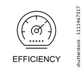 efficiency line icon. element... | Shutterstock .eps vector #1111467317