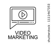 video marketing line icon.... | Shutterstock .eps vector #1111467353