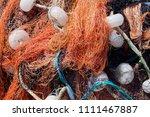 multi colored nylon fishing... | Shutterstock . vector #1111467887