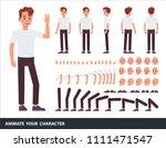 man character vector design.... | Shutterstock .eps vector #1111471547