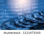 stock market or forex trading... | Shutterstock . vector #1111473143
