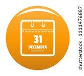 calendar thirty first december...   Shutterstock .eps vector #1111476887