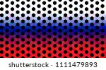 russian flag with football... | Shutterstock .eps vector #1111479893
