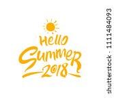 hello summer 2018. seasonal... | Shutterstock .eps vector #1111484093