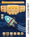 a space rocket game template... | Shutterstock .eps vector #1111487807