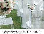 wedding ceremony setup | Shutterstock . vector #1111489823