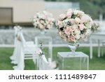 wedding ceremony setup | Shutterstock . vector #1111489847