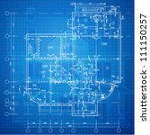 urban blueprint  vector .... | Shutterstock .eps vector #111150257