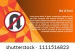 no u turn details | Shutterstock .eps vector #1111516823