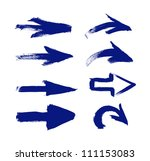 blue vector hand painted brush... | Shutterstock .eps vector #111153083