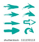 turquoise vector hand painted... | Shutterstock .eps vector #111153113