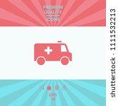 ambulance symbol icon | Shutterstock .eps vector #1111532213