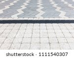 sidewalk ground flooring square ... | Shutterstock . vector #1111540307