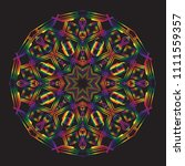 intricate art deco style... | Shutterstock .eps vector #1111559357