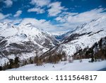 beautiful landcape snow... | Shutterstock . vector #1111564817