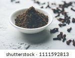 whole cloves or laung or lavang ... | Shutterstock . vector #1111592813