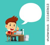 vector cartoon businessman at... | Shutterstock .eps vector #1111603613