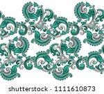 seamless paisley border for...   Shutterstock .eps vector #1111610873