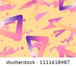 liquid color shape seamless... | Shutterstock .eps vector #1111618487