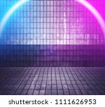 marble interior with neon lights | Shutterstock . vector #1111626953