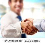 closeup of a business handshake ... | Shutterstock . vector #111165887
