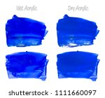 vector blue paint smear stroke... | Shutterstock .eps vector #1111660097