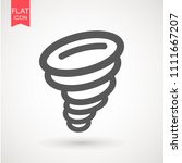 tornado icon. tornado storm...   Shutterstock .eps vector #1111667207