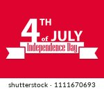 independence day 4th of july.... | Shutterstock .eps vector #1111670693
