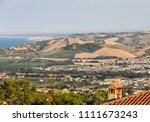 panoramic view of olive groves... | Shutterstock . vector #1111673243