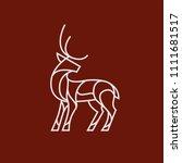 deer logo on red background... | Shutterstock .eps vector #1111681517