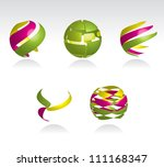 collection of abstract spheres... | Shutterstock .eps vector #111168347