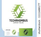 network technology rhombus... | Shutterstock .eps vector #1111688177