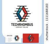 network technology rhombus... | Shutterstock .eps vector #1111688183