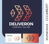 abstract business delivery or... | Shutterstock .eps vector #1111688207