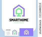 smart or technology home logo... | Shutterstock .eps vector #1111688213