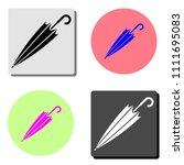 umbrella. simple flat vector...