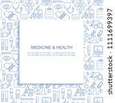 vector medicine and health... | Shutterstock .eps vector #1111699397