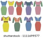woman dress beautiful | Shutterstock .eps vector #1111699577