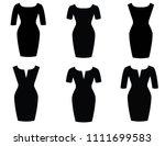 woman dress beautiful | Shutterstock .eps vector #1111699583