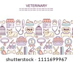 line style colored vector... | Shutterstock .eps vector #1111699967