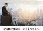 concept idea.young businessman ... | Shutterstock . vector #1111706573