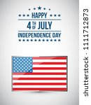 fourth of july. 4th of july... | Shutterstock .eps vector #1111712873