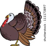 Cute Vector Turkey Bird