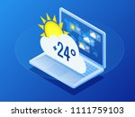 isometric current weather... | Shutterstock .eps vector #1111759103