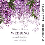 wedding invitation card with... | Shutterstock .eps vector #1111760453