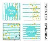 wedding invitation set with...   Shutterstock .eps vector #1111763453