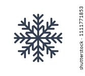 snowflake icon. black... | Shutterstock .eps vector #1111771853