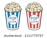 popcorn bucket boxes isolated | Shutterstock .eps vector #1111773737