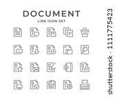 set line icons of document | Shutterstock .eps vector #1111775423